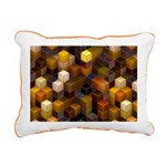 SteamCubism - Brass - Rectangular Canvas Pillow