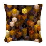 SteamCubism - Brass - Woven Throw Pillow