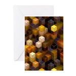 SteamCubism - Brass - Greeting Cards (Pk of 10)