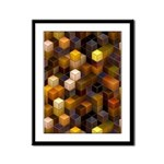 SteamCubism - Brass - Framed Panel Print