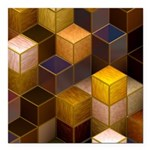 SteamCubism - Brass - Square Car Magnet 3