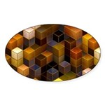SteamCubism - Brass - Sticker (Oval)