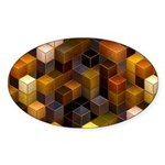 SteamCubism - Brass - Sticker (Oval 10 pk)