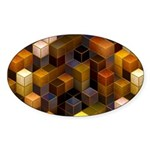 SteamCubism - Brass - Sticker (Oval 50 pk)