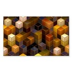 SteamCubism - Brass - Sticker (Rectangle 10 pk)