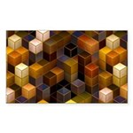 SteamCubism - Brass - Sticker (Rectangle 50 pk)