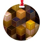 SteamCubism - Brass - Round Ornament