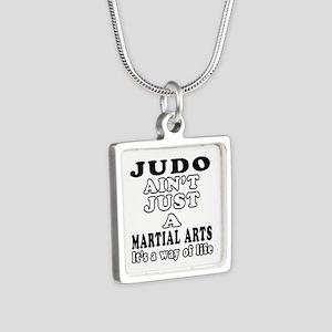 Judo Martial Arts Designs Silver Square Necklace