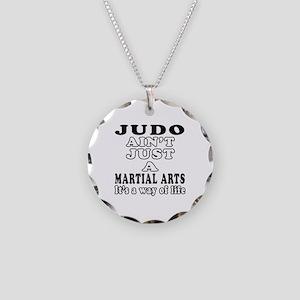 Judo Martial Arts Designs Necklace Circle Charm