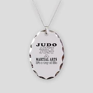 Judo Martial Arts Designs Necklace Oval Charm
