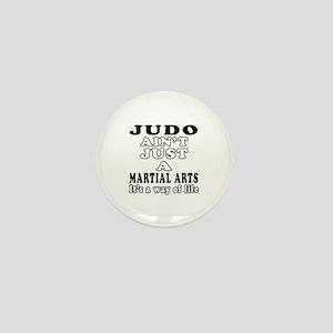 Judo Martial Arts Designs Mini Button