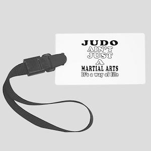 Judo Martial Arts Designs Large Luggage Tag