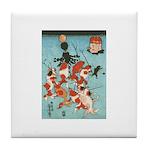 Ukiyoe Goldfish Tile Coaster