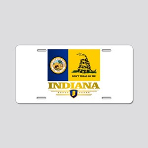 Indiana Gadsden Flag Aluminum License Plate