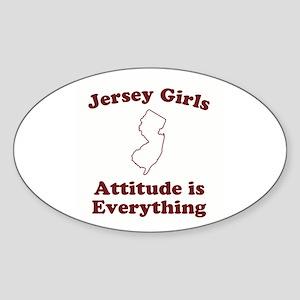 Jersey Girls Oval Sticker