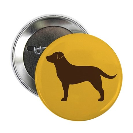 """Chocolate Lab 2.25"""" Button (100 pack)"""
