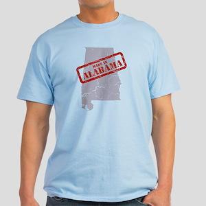 Made in Alabama Map Grey T-Shirt