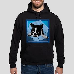 Blue Sad Puppy Hoodie (dark)