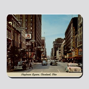 Playhouse Square, Cleveland, Ohio Vintage Mousepad