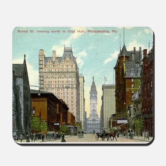 Broad St., Philadelphia, Pennsylvania, Vintage Mou