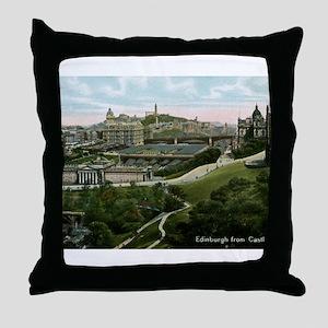 Edinburgh, Scotland, Vintage Throw Pillow