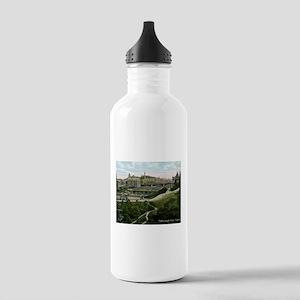 Edinburgh, Scotland, Vintage Water Bottle