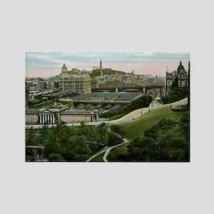 Edinburgh, Scotland, Vintage Rectangle Magnet