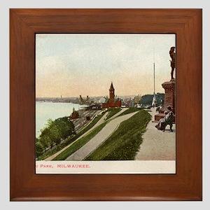 Juneau Park, Milwaukee, Wisconsin, Vintage Framed