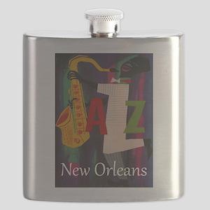 Vintage New Orleans Travel Flask