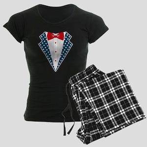 Patriotic Tuxedo Women's Dark Pajamas