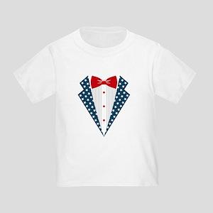 Patriotic Tuxedo Toddler T-Shirt