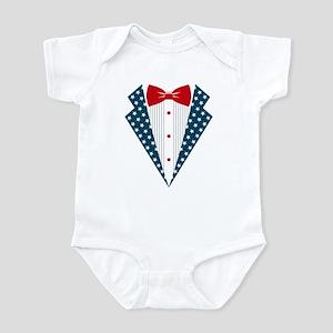 Patriotic Tuxedo Infant Bodysuit