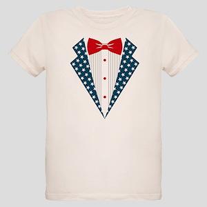 Patriotic Tuxedo Organic Kids T-Shirt