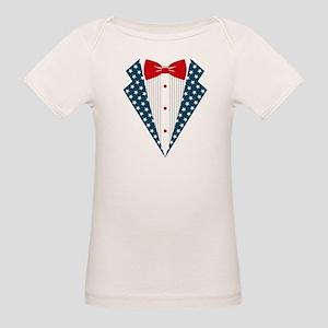 Patriotic Tuxedo Organic Baby T-Shirt