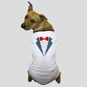 Patriotic Tuxedo Dog T-Shirt