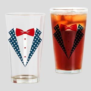 Patriotic Tuxedo Drinking Glass