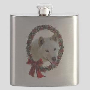 Jindo Christmas Flask