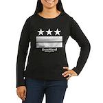 Brookland Washington DC Women's Long Sleeve Dark T