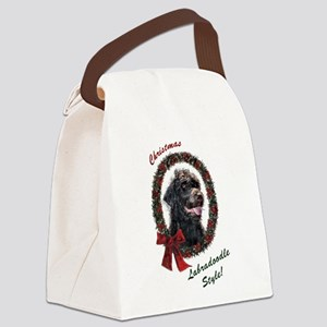 Labradoodle Christmas Canvas Lunch Bag