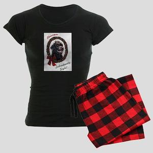 Labradoodle Christmas Women's Dark Pajamas