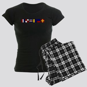 Nautical Women's Dark Pajamas