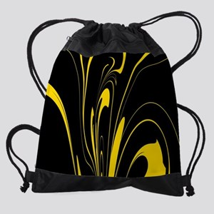 Black and Yellow Drawstring Bag