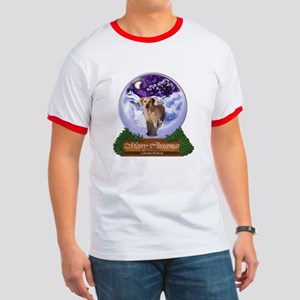 Labrador Retriever Christmas Ringer T