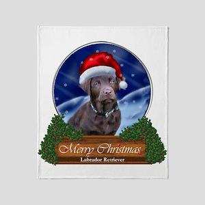 Labrador Retriever Christmas Throw Blanket