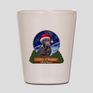 Labrador Retriever Christmas Shot Glass