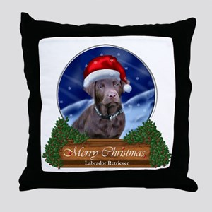 Labrador Retriever Christmas Throw Pillow