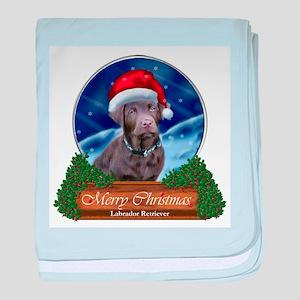 Labrador Retriever Christmas baby blanket