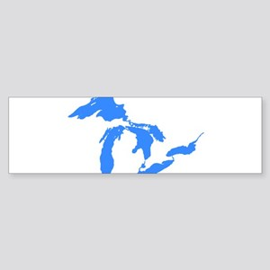 Great Lakes Only Blue3 Bumper Sticker