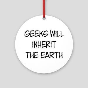 Geek Round Ornament
