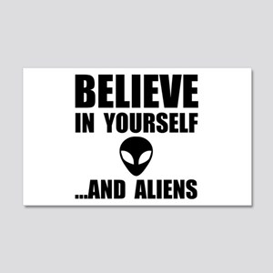 Believe Yourself Aliens Wall Decal